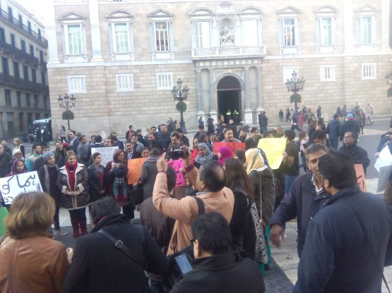Huma Protesta Pza St Jaume