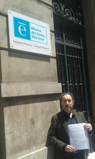 Presentación de escrito ante Delegado Provincial del Censo Electoral